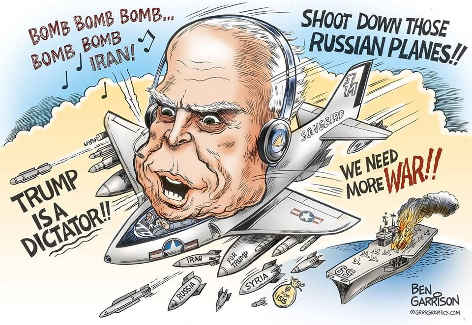 Image result for caricature mccain iran