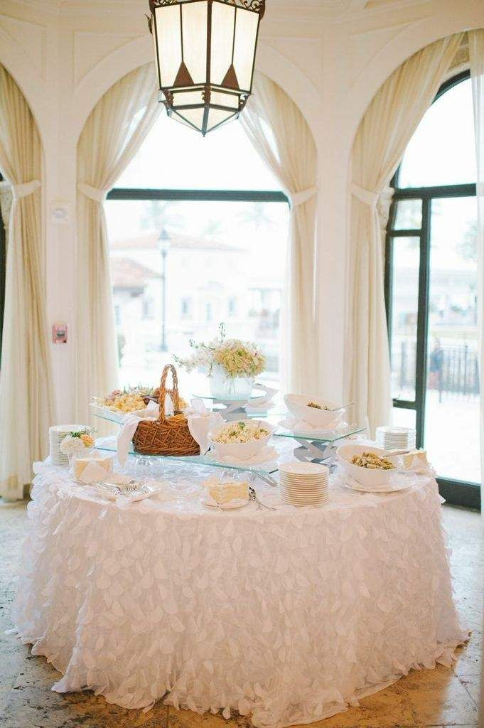 Blue Seaside Florida Wedidng from Shea Christine at the Vanderbilt Mansion - wedding reception food station idea