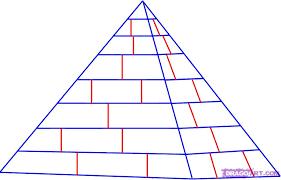 Afbeeldingsresultaat voor pyramid drawing