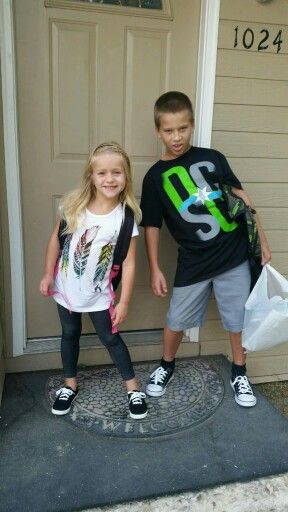 Brother And Sister  F0 9f 92 9c F0 9f 92 99 First Day Of School 2015  F0 9f 98 8a