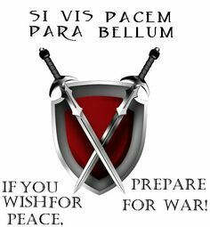 Latin Si Vis Pacem Para Bellum If You Wish For Peace