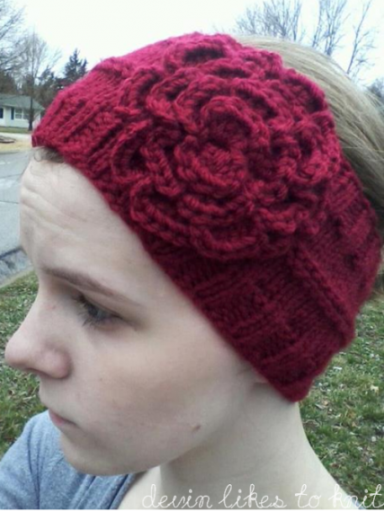A Simple Headbandear Warmer Knit Pattern Flower Headbands Knit