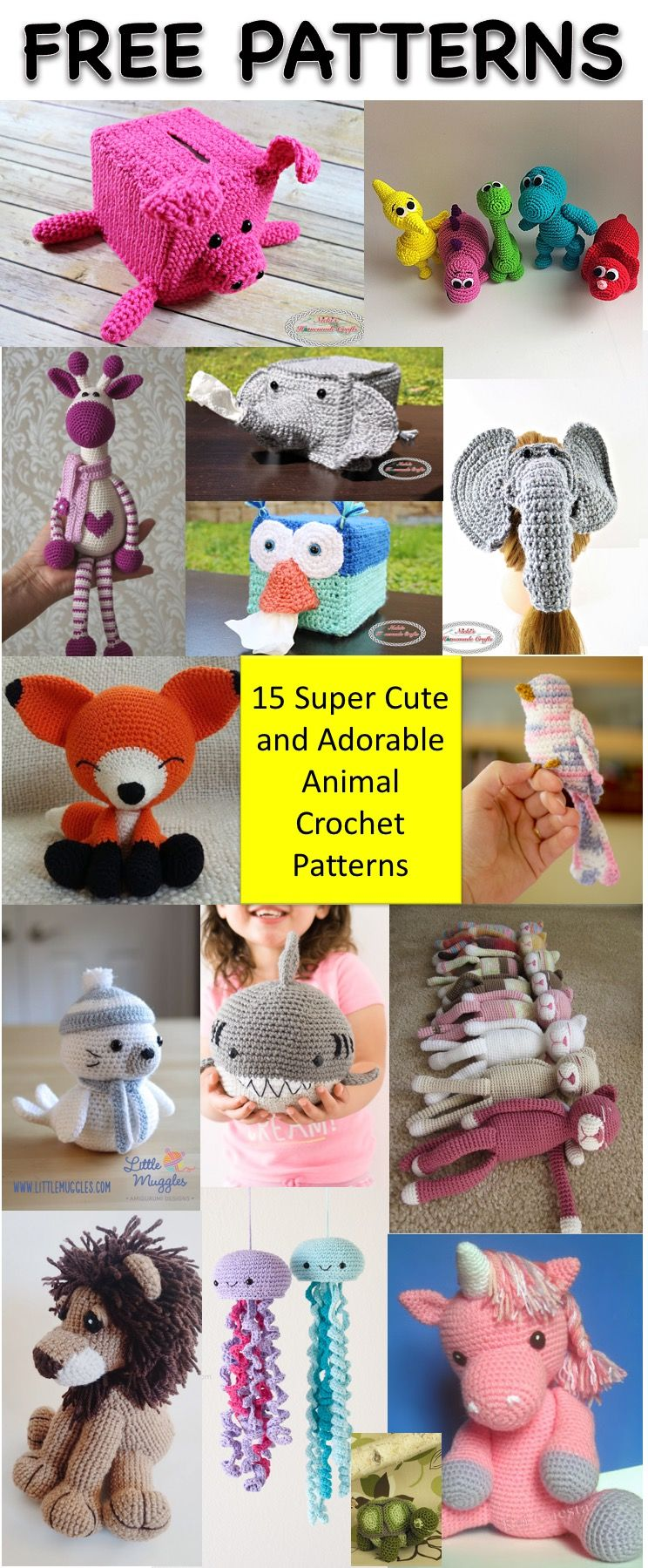 15 Most Popular and Adorable Free Animal Crochet Patterns ...
