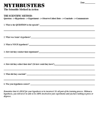Teaching the scientific method cool mythbusters video with activity teaching the scientific method cool mythbusters video with activity to help teach scientific method ibookread Read Online