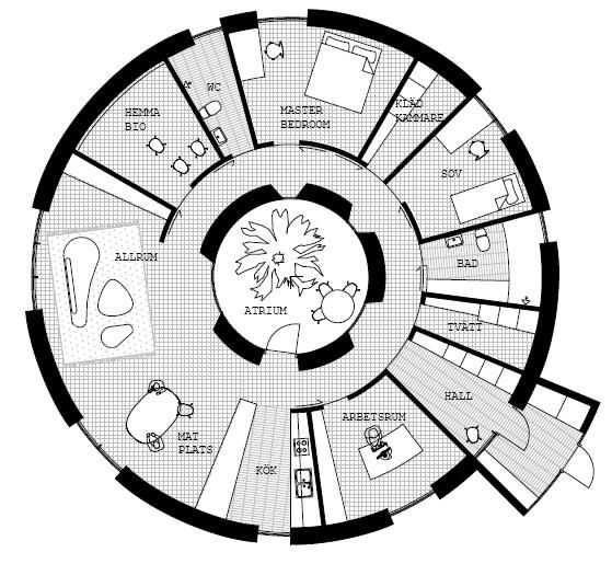 Passive In The Round Round House And House