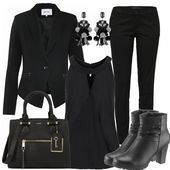 Business Outfits: WomanInBlack bei FrauenOutfits.de #fashion #fashionista #mode …, #bei #B …