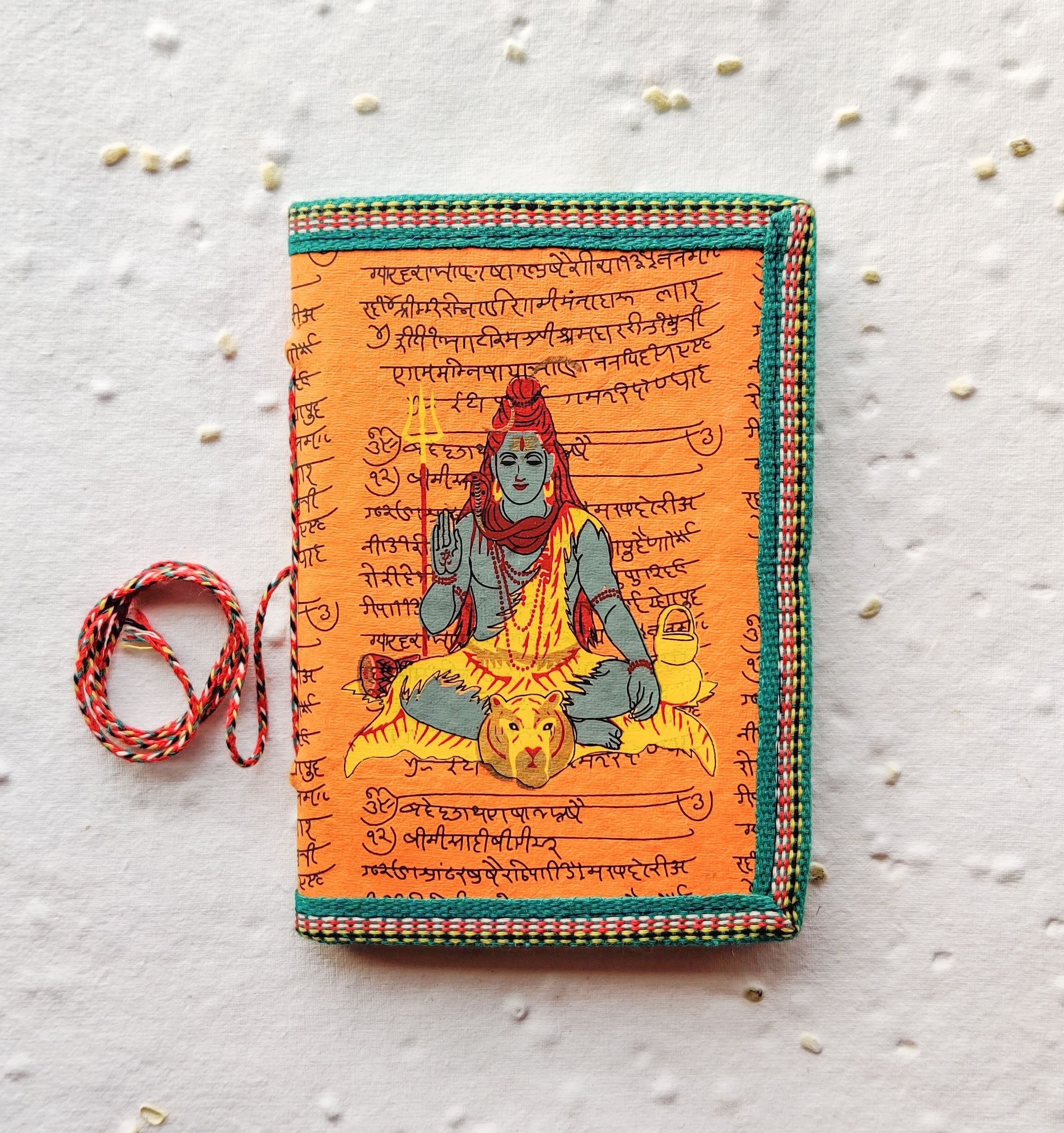 Blank Junk Journal, Indian Shiva journal, Handmade Gift