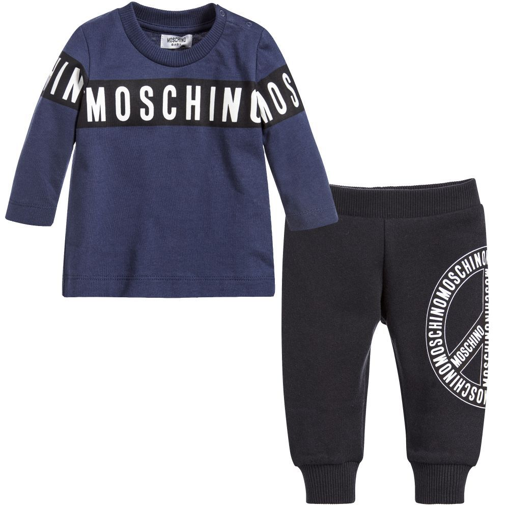 Little boys will look super stylish in this top and trousers set
