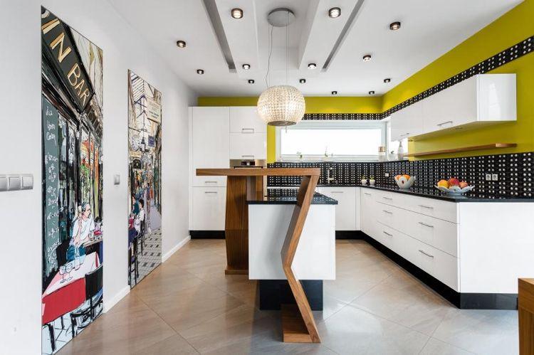 Plan de travail cuisine de couleur \u2013 façon de rafraîchir l\u0027espace