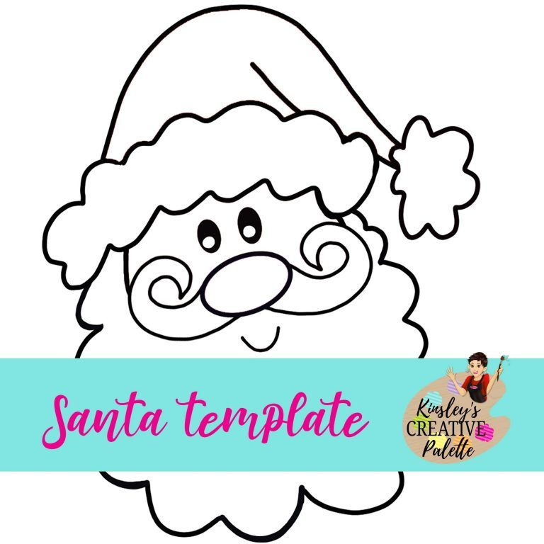 Santa door hanger template Christmas Santa face Wooden ...