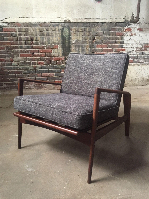 Mid century lounge chair IB Kofod Larsen lounge chair Danish modern ...
