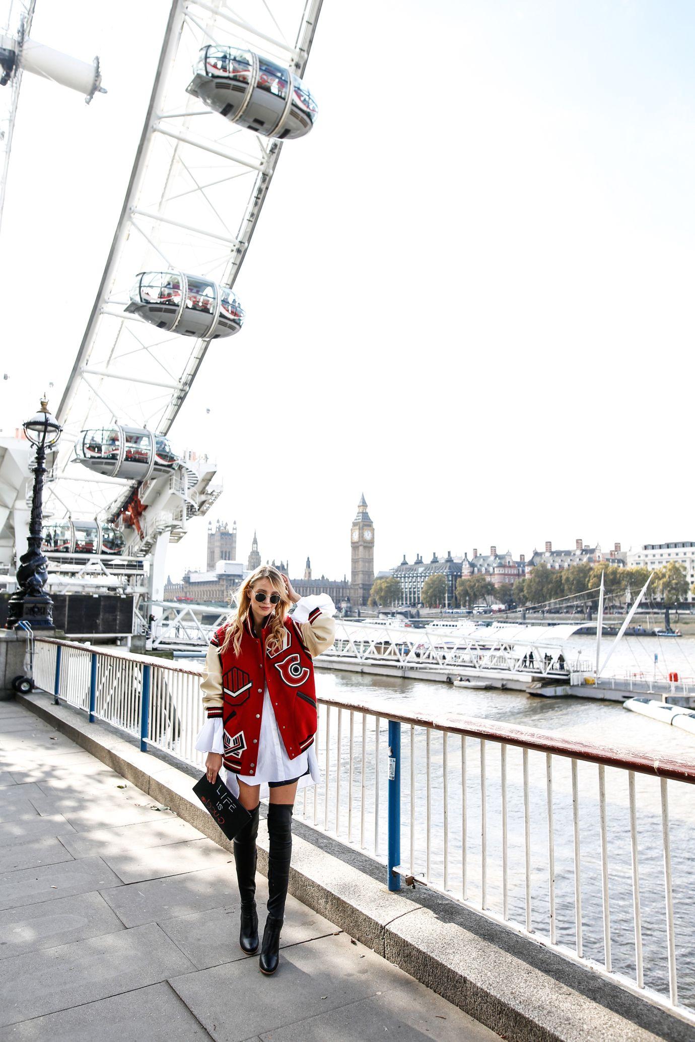 Coach Bomber jacket & overknees | London - leonie hanne – haute couture