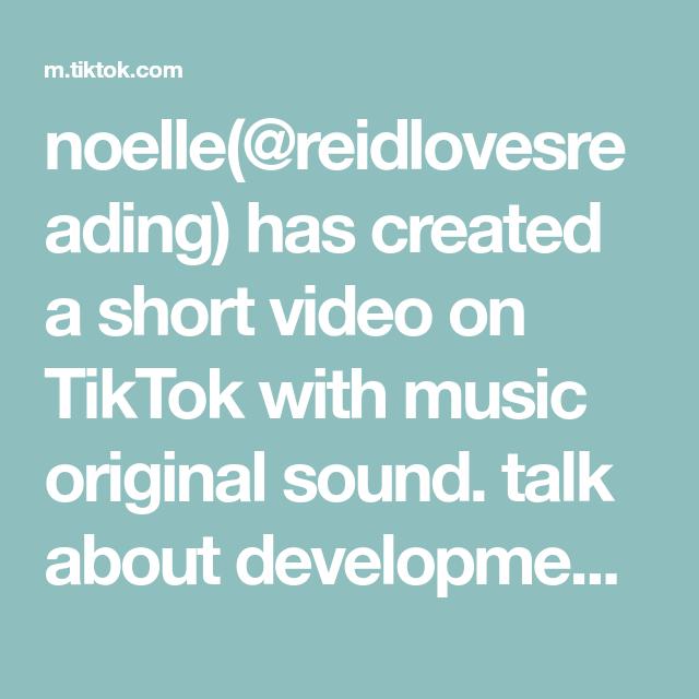 Noelle Reidlovesreading Has Created A Short Video On Tiktok With Music Original Sound Talk About Development Matthewgrayg Act Math The Originals Sat Math