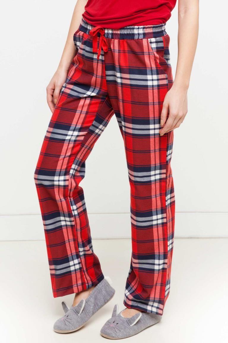 4b7f243129c1f DeFacto Kırmızı Kadın Kareli Pijama Altı 1 | My hash dreams ...