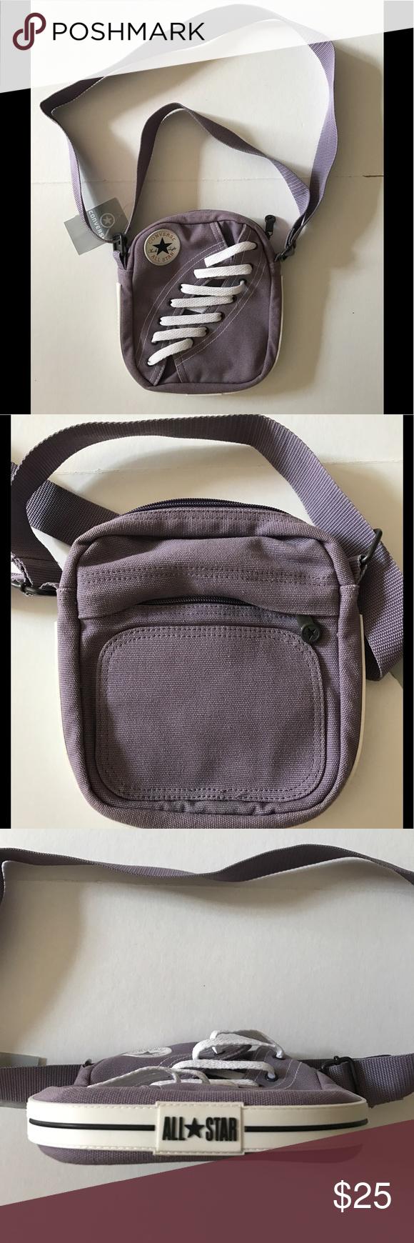 a7c52aaa86d CONVERSE lilac canvas cross-body zip bag NWT NWT Converse Chuck Taylor All  Star