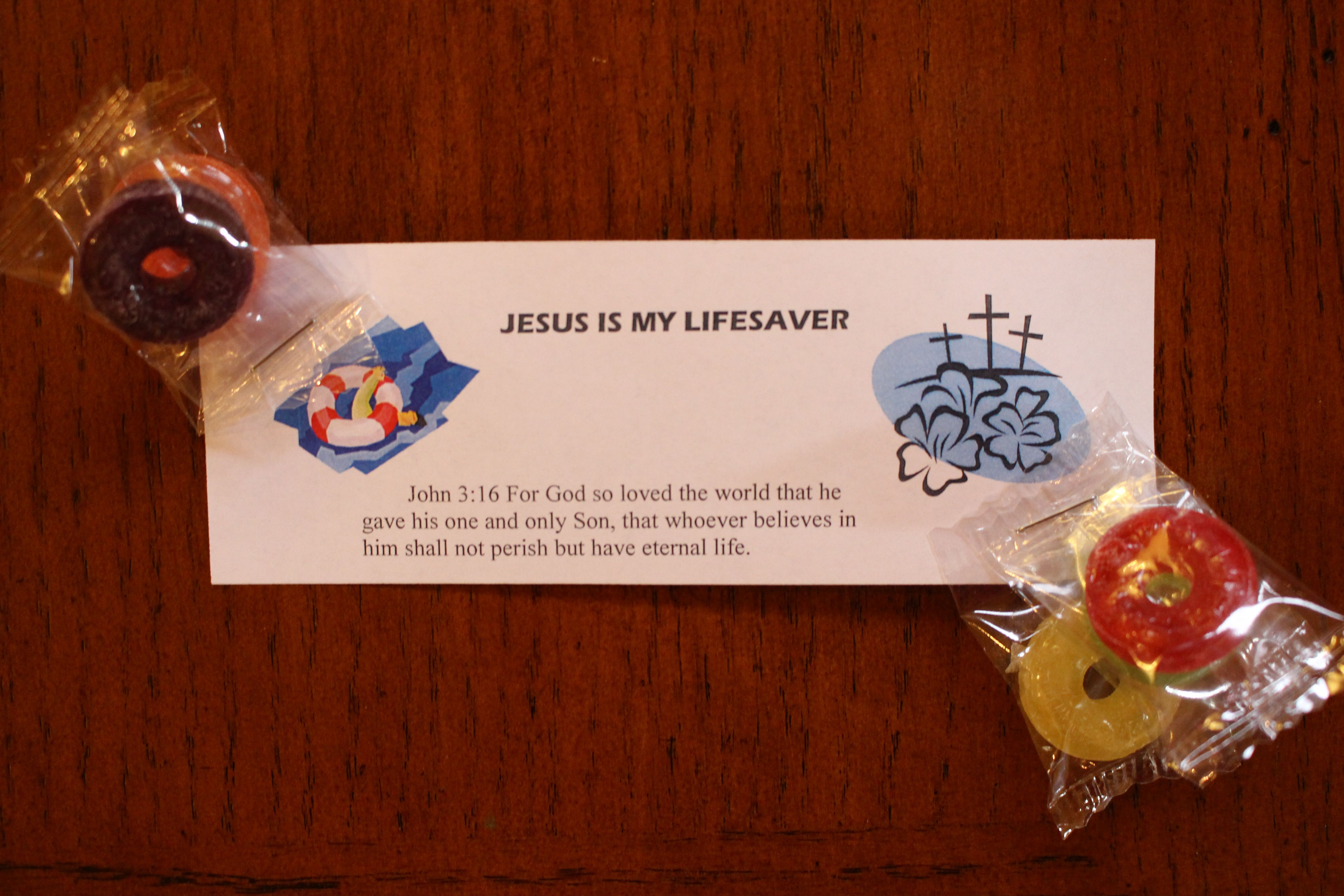 JESUS IS MY LIFESAVER: very simple take-home for kids at ...