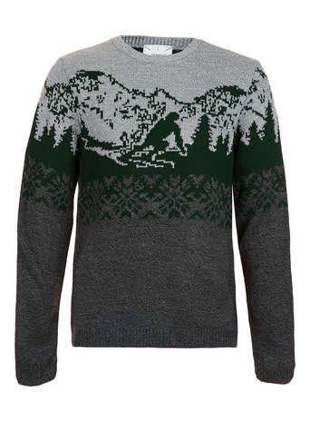 Green Ski Slope Jumper - Men's Jumpers & Cardigans - Clothing ...