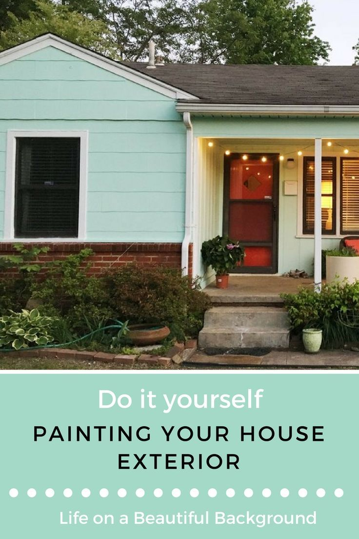 Diy Painting Your House Exterior Retro Den Vintage Furniture And Homewares Green House Exterior Green Exterior House Colors House Paint Exterior