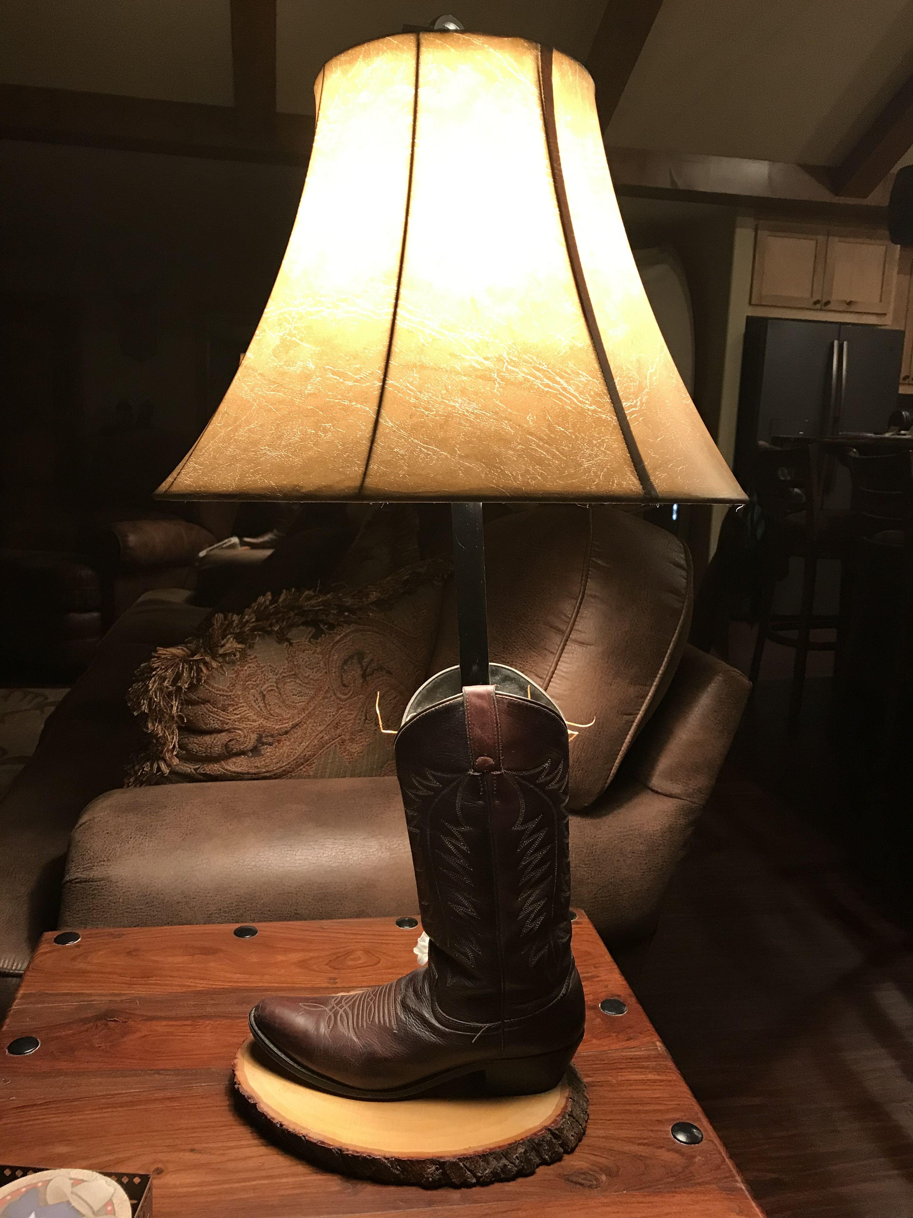 Boot Lamp Lamp Table Lamp Decor