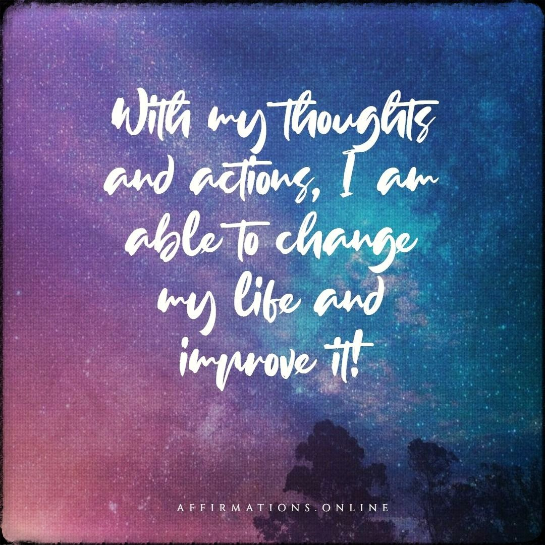 Self Improvement Affirmations In