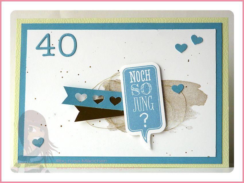 Stampin' Up! Rosa Mädchen Geburtstagskarte mit Herzbordüre und Ganz schön aufgeblasen