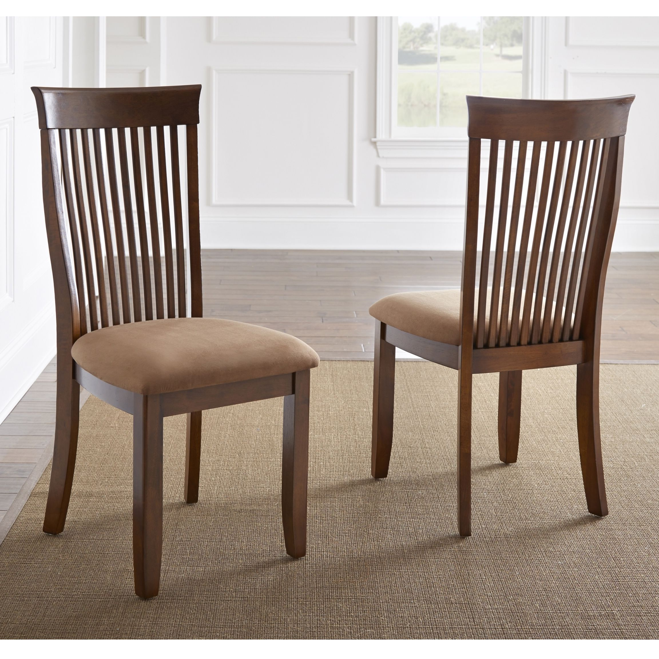 The Mission Style Montreat Dining Chairs Feature A Traditional Mission  Style With A Curved Slat