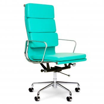 169 Eames Style Turquoise Soft Pad Style Executive Office Chair169 Eames Style Turquoise Soft Pad Style Executive Office Chair  . Eames White Soft Pad Style Executive Office Chair. Home Design Ideas