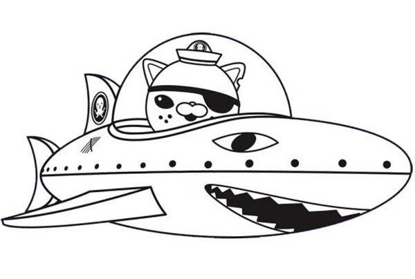 Octonauts, : Kwazii and Shark Submarine in The Octonauts Coloring ...