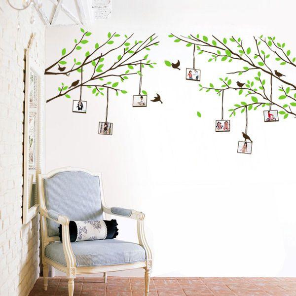 Baum Fotorahmen Wandtattoo Kinderzimmer Schlafzimmer Wohnzimmer