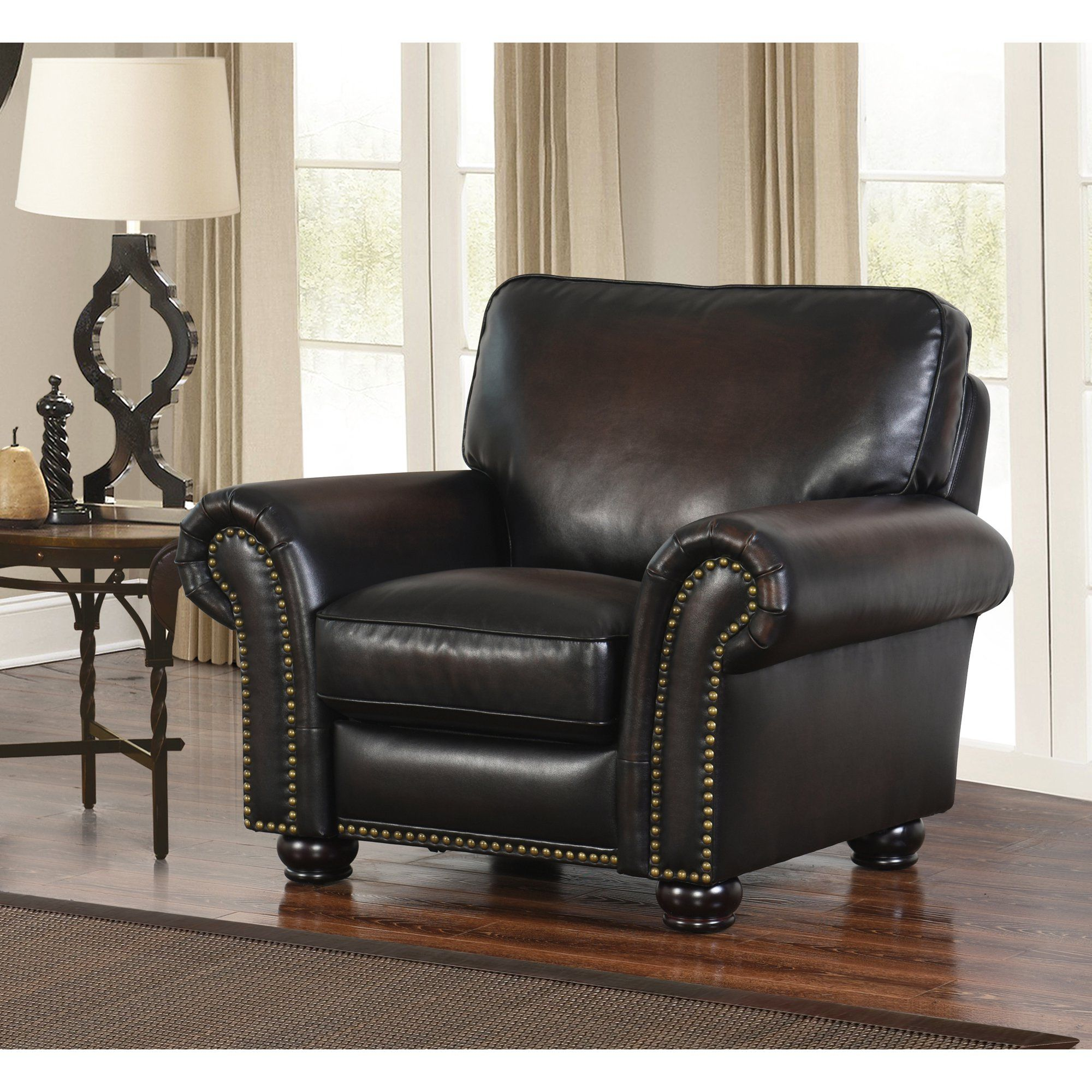 Devon & Claire Jax Hand Rubbed Leather Push Back Recliner