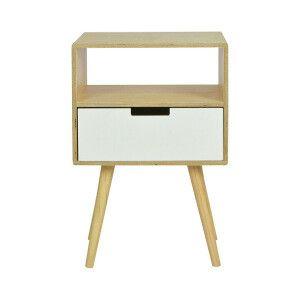 table de chevet agile 1 tiroir beige blanc 40 x 30 x 61 cm rangement pinterest tables de. Black Bedroom Furniture Sets. Home Design Ideas