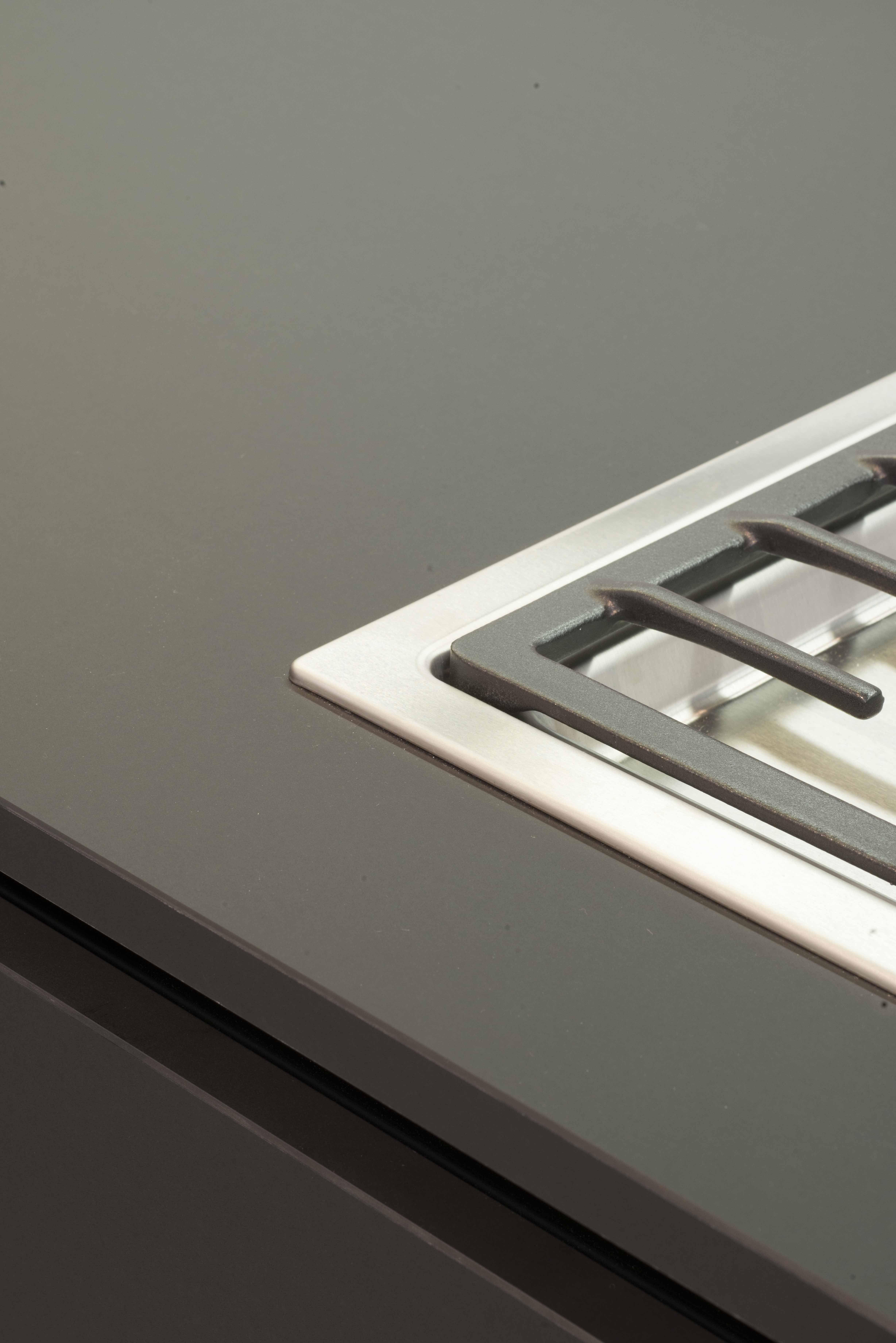 Kitchen Worktop In Fenix Ntm Kitchen Worktop Kitchen Tops Black Kitchens