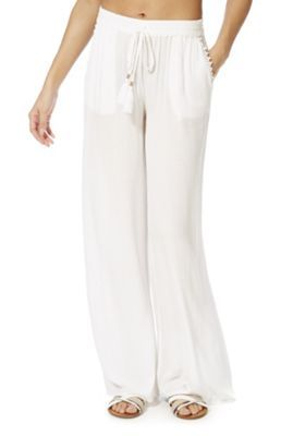43c7516ffca73 Buy F&F Crinkle Wide Leg Beach Trousers from our Women's Beachwear range -  Tesco
