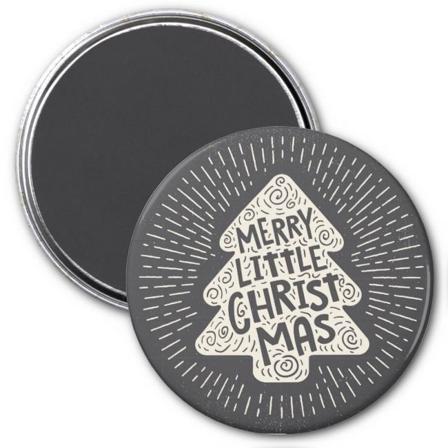 Merry Little Chrismas Magnet Vintage Merry Little Chrismas Magnet