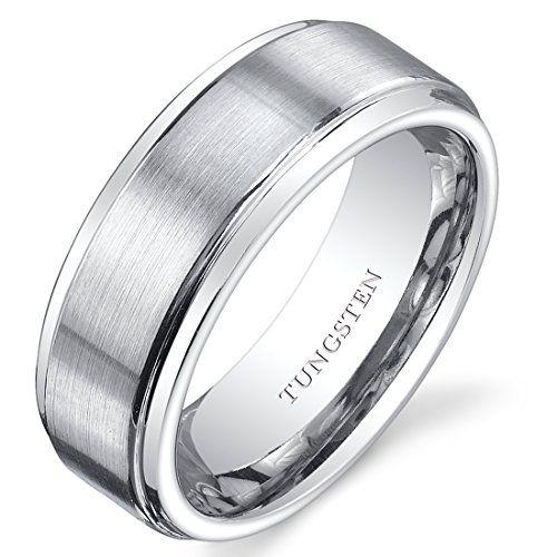 Titanium Enamel 8mm Mens Wedding Ring Band Size 7