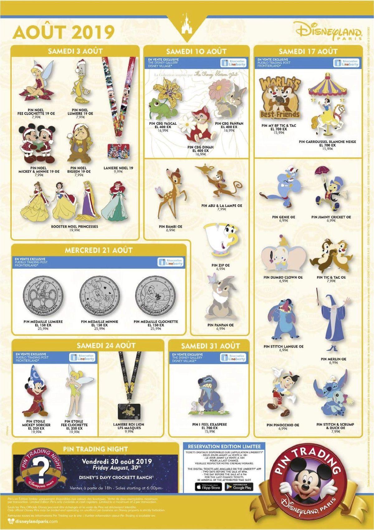 Disney Christmas 2020 Pin Trading Disneyland Paris August 2019 Pins   Disney Pins Blog in 2020