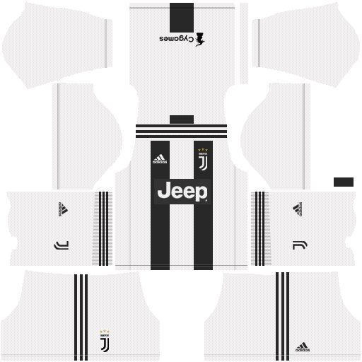 F C  Juventus 2018-19 Dream League Soccer Kits 512x512 URL | Arnat