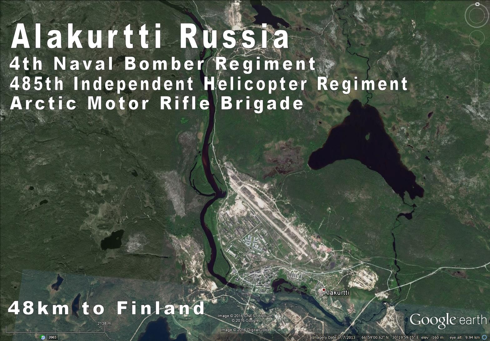 Alakurtti Russia Military base for 2 aviation