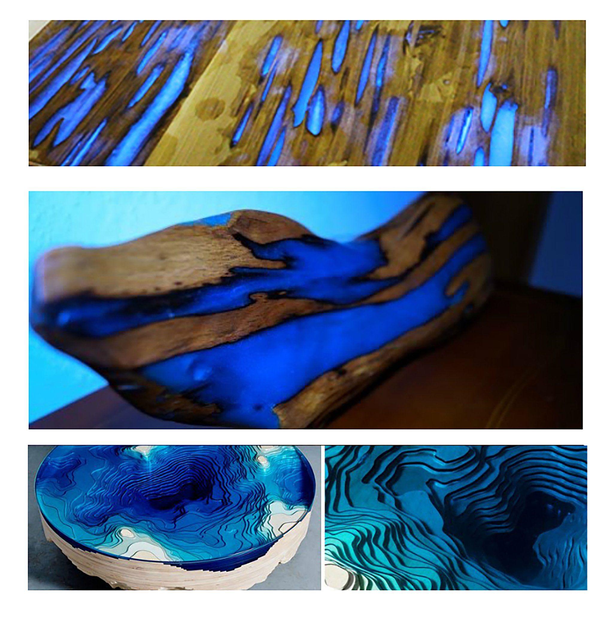 Resine Pour Peindre Meuble Bois pigment fluorescent uv (poudre fluorescente) | Époxy, resine