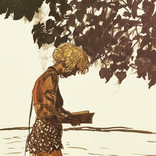La lectura me absorbe, no puedo evitarlo (ilustración de Vin Ganapathy)
