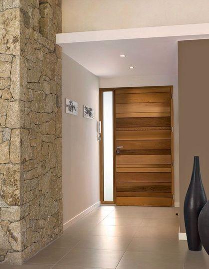 Porte d 39 entr e en bois les plus beaux mod les pour votre - Modele porte en bois interieur ...