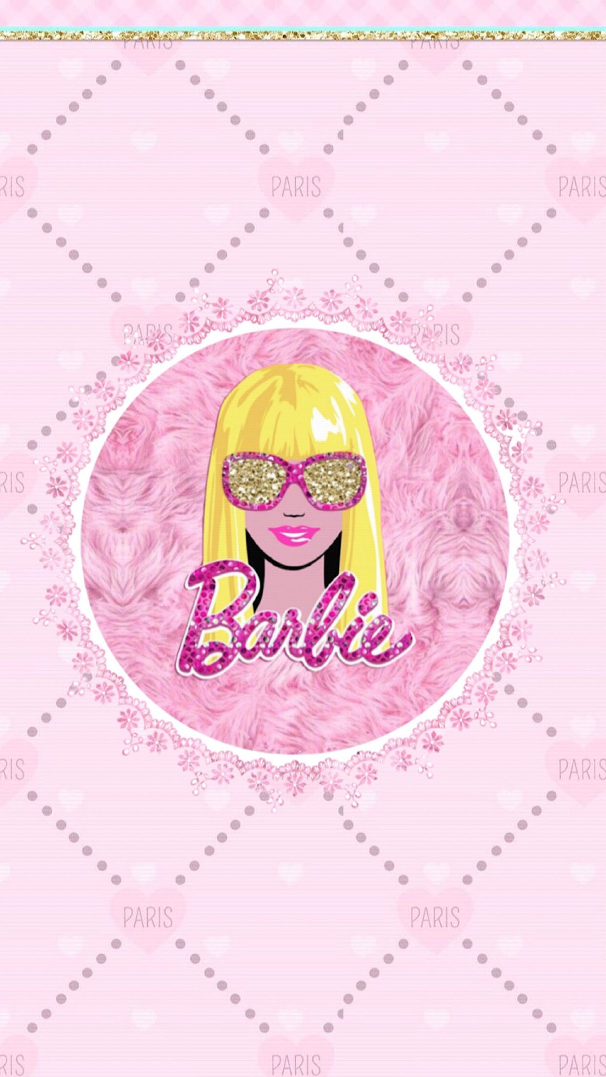 barbie quilted wallpaper cm 1 6 barbie painting and art