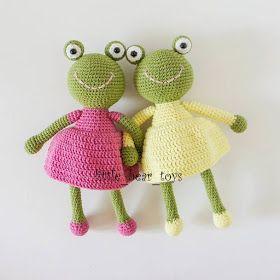 Leithygurumi: Little Bear Toys - Amigurumi Kurbağa Kız Türkçe Tarif - Amigurumi Frog Girl Free English Pattern #beartoy