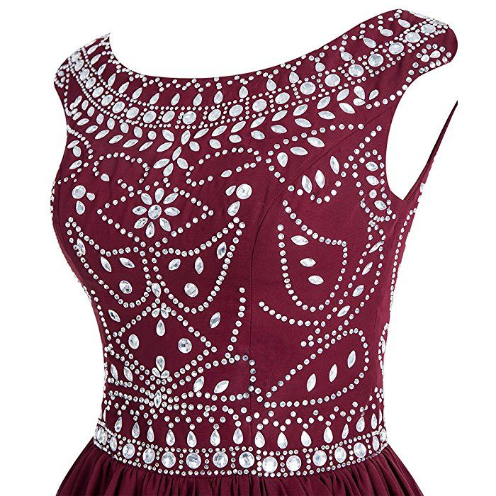 Amazon.com: Wedtrend Women\'s Chiffon Beading Homecoming Dress Short ...