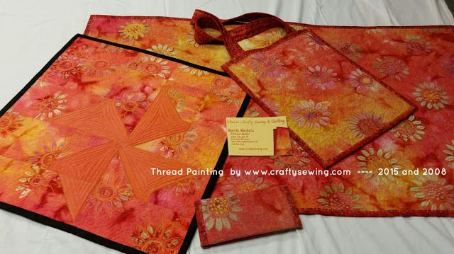 Thread Painting on Batik Fabrics #quilting #quilts #threadpainting