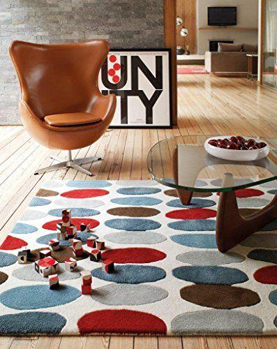 Teppich Wohnzimmer Carpet modern Design MATRIX SOFIA KREIS RUG 100 - wohnzimmer modern turkis