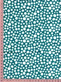 Tissu little spots sur bleu canard