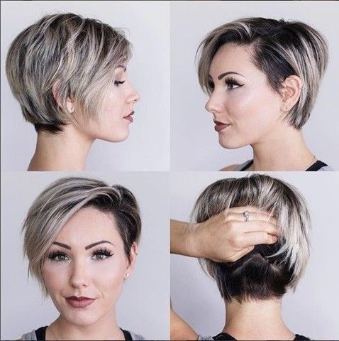 Dunkelblond Pixie Haarschnitt | Kurzes Haar | Pixie ...
