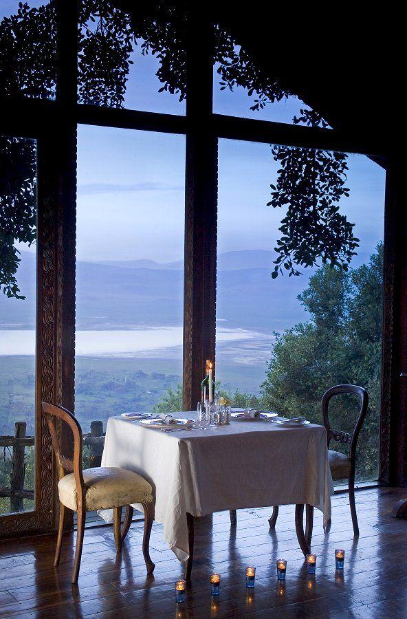 Dining Room  Ngorongoro Crater Lodge Ngorongoro Crater Tanzania Unique Crater Lake Lodge Dining Room Menu Design Inspiration