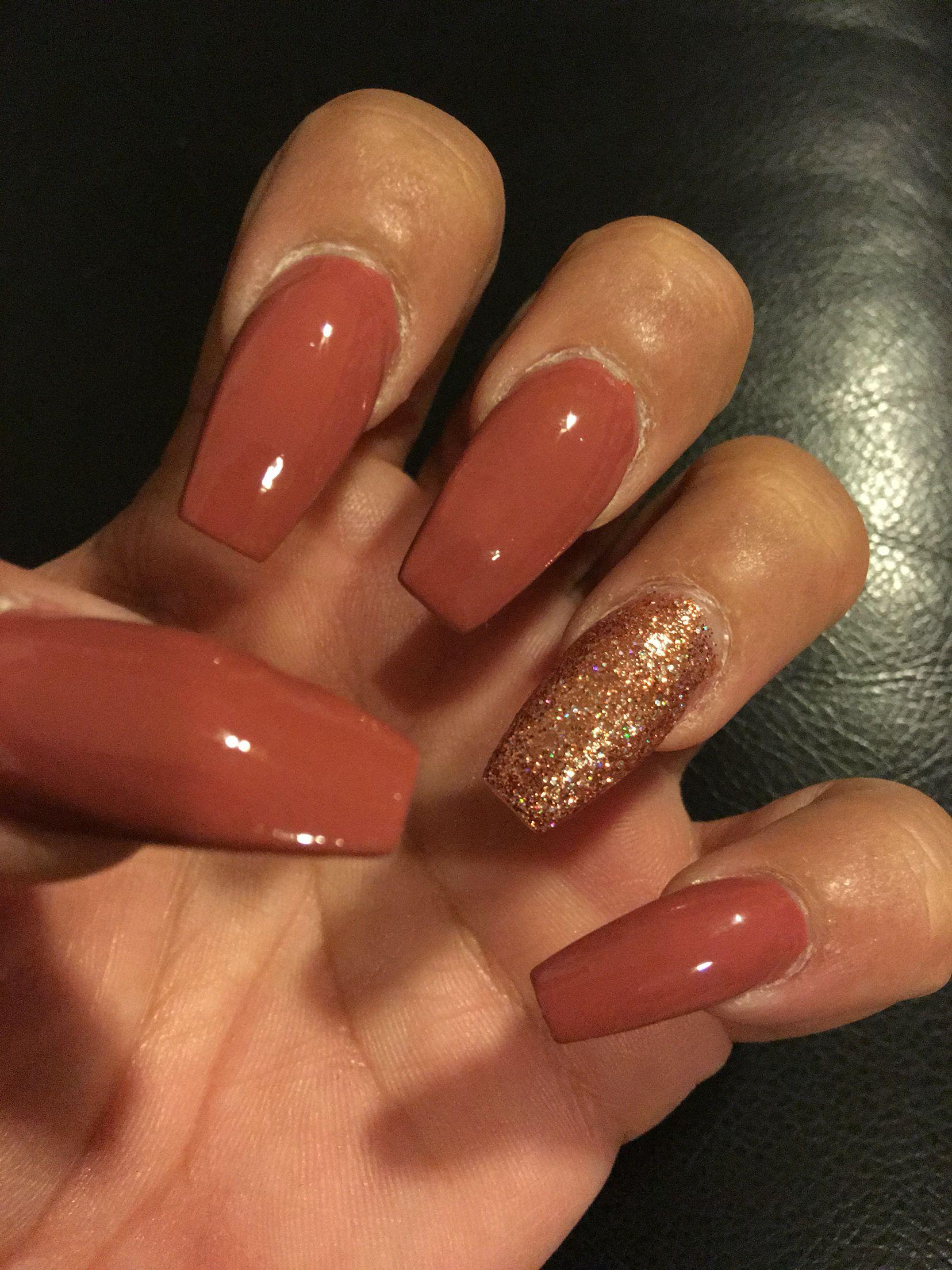 Opi Java Mauve Fall Acrylic Nails